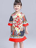 Vestido Chica de Floral Manga Corta