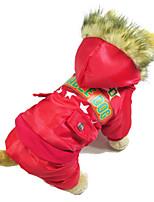 Chien Manteaux Vêtements pour Chien Garder au chaud Britannique Rouge Vert Bleu
