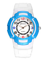 Kid's Sport Watch Digital Watch Digital Water Resistant / Water Proof Noctilucent Rubber Band White Pink