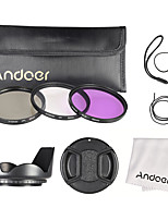 Andoer 62mm Filter Kit (UV CPL FLD)  Nylon Carry Pouch  Lens Cap  Lens Cap Holder  Lens Hood  Lens Cleaning Cloth