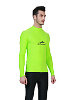 SBART Men's Shorty Wetsuit Chinlon Diving Suit Long Sleeves Diving Suits Tops-Watersports Diving & Snorkeling Surfing/SUP All Seasons