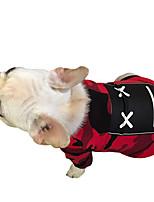 Cachorro Colete Roupas para Cães Casual Geométrico Vermelho Cor camuflagem