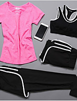 Women's Short Sleeve Running Compression Clothing Tracksuit Underwear Clothing SuitsCycling Camping & Hiking Fitness, Running & Yoga