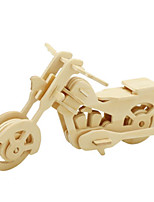 Jigsaw Puzzles DIY KIT 3D Puzzles Metal Puzzles Building Blocks DIY Toys Motorcycle Natural Wood