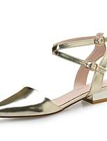 Women's Boots Comfort PU Summer Casual Comfort Silver Black Gold Flat