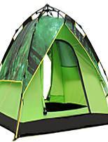 3-4 personnes Tente Double Tente automatique Une pièce Tente de camping 1500-2000 mm Fibre de carbone TérylèneVentilation Résistant à la