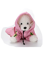 Dog Coat Rain Coat Dog Clothes Casual/Daily Solid Blushing Pink Yellow