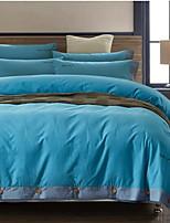 Plants 4 Piece Cotton Cotton 1pc Duvet Cover 2pcs Shams 1pc Flat Sheet