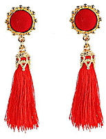 Belly Dance Jewelry Women's Performance Polyester Tassel(s) 2 Pieces Earrings