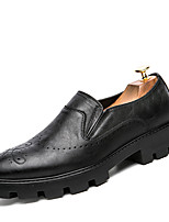 Men's Oxfords Clogs & Mules Spring Fall Wedding Outdoor Office & Career Casual Party & Evening Flat Heel Others Black