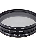 Set de filtre de 72 mm uv cpl star Kit de filtre à 8 points avec étui pour Canon Canon Nikon sony dslr