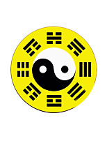 Ink Gossip Tai Chi Figure 8 20 * 20 * 0.03CM Rubber Fabric At The End Of Anti-Skid Durable Mouse Pad