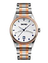 Skmei® Men's Dress Stainless Steel Strap Quartz Wrist Watch 30m Waterproof Assorted Colors