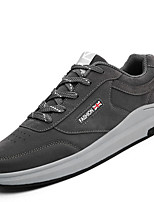 Men's Athletic Shoes Comfort Light Soles Spring Fall Breathable Mesh PU Casual Outdoor Lace-up Flat Heel Black Gray Ruby Blue 1in-1 3/4in