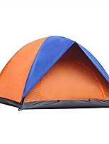 2 persone Tenda Doppio Tenda ripiegabile Una camera Tenda da campeggio 1000-1500 mm Fibra di vetro TeritalOmpermeabile Anti-pioggia