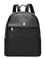Women Backpack PU All Seasons Wedding Event/Party Casual Sports Formal Outdoor Office & Career Bucket Zipper Black
