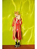 Manches Ajustées Pantalon Costumes Femme,Imprimé Quotidien Contemporain Eté Manches Courtes Col Arrondi