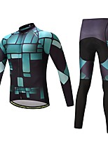 Cycling Jersey with Tights Unisex Long Sleeves Bike Clothing Suits Thermal / Warm Thick Polyester LYCRA® Silicon Fleece Winter