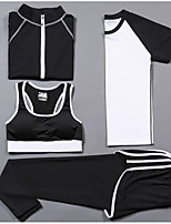 Women's Short Sleeve Running Compression Clothing Tracksuit Clothing Suits Cycling Fitness, Running & Yoga Casual Sports All Seasons