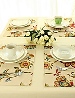 Modern Fashionable Pastoral Style Cotton And Linen Table Placemat 32*45cm Double-sided