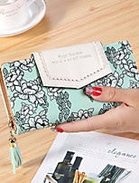 Women Checkbook Wallet PU All Seasons Casual Rectangle Zipper Ruby Cyan Black