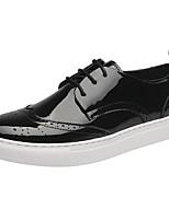 Для мужчин Кеды Удобная обувь Полиуретан Осень Зима Повседневные Удобная обувь На плоской подошве Белый Черный Менее 2,5 см