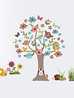 Wall Stickers Wall Decas Style Cartoon Tree Animal PVC Wall Stickers