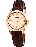 Жен. Модные часы Кварцевый Защита от влаги Кожа Группа Коричневый