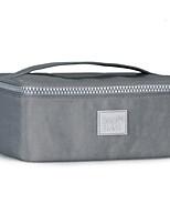 Women Cosmetic Bag Nylon All Seasons Casual Rectangle Zipper Fuchsia Gray