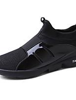 Для мужчин Кеды Удобная обувь Полиуретан Весна Осень Черный Серый Красный На плоской подошве