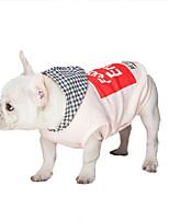 Hund Kapuzenshirts Hundekleidung Lässig/Alltäglich Buchstabe & Nummer Weiß Rosa