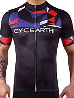 Manica corta Bicicletta Asciugatura rapida Sfregamento ridotto Elastico Spandez 100% poliestere LYCRA® Estate