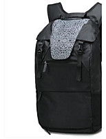 Men Backpack PU All Seasons Casual Bucket Zipper Black