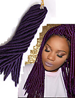 1pcs Kanekalon Hair Faux Locs Crochet Braids Extensions 14 18 inch Black Blond Brown Burgundy purple blue Synthetic Dreadlocks braiding hair