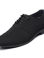 Men's Oxfords Light Soles Comfort Gladiator Cowhide Spring Fall Casual Office & Career Party & Evening Lace-up Flat Heel Black Flat
