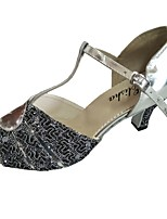 Customized Suede Heel Women's Latin Shoe Salsa Party Dance Shoe Open Toe More Colors