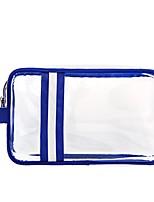 Men Storage Bag PVC All Seasons Casual Outdoor Baguette Zipper Blue