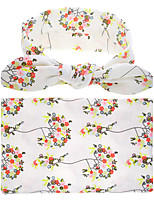 Baby Swaddle And Headband Baby Blanket 2 Pcs Headband Blanket Floral Baby Product