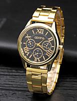 Муж. Модные часы Наручные часы Кварцевый сплав Группа Повседневная Серебристый металл Золотистый