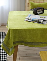 European Classical Green Embroidery Cotton And Linen Table Cloth 90*90cm