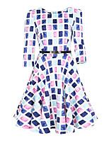 Women Dress Audrey Hepburn Vestidos Belted Sleeveless Floral Print Clothing Cotton 50s Casual Rockbilly Dresses