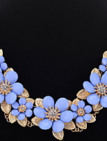 Choker Necklaces Chain Necklaces Statement Necklaces Women's Girls' Euramerican Elegant Rhinestone Flower Party Daily Gift Jewelry