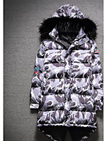 Men's Padded Coat,Simple Active Daily Casual Camouflage-Cotton Polyester Cotton Long Sleeve