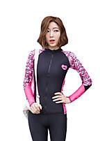 Mulheres Roupas de mergulho Elastano Fato de Mergulho Manga Longa Blusas-Mergulho Todas as Estações Curva