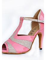 Da donna Balli latino-americani PU (Poliuretano) Sneakers Per interni Con fermaglio di chiusura Tacco su misura Nero Rosa 5 - 6,8 cm