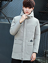 Men's Long Padded Coat,Simple Active Daily Casual Solid-Cotton Polyester Cotton Long Sleeve