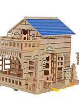 Kit de Bricolage Puzzles 3D Puzzle Puzzles en bois Jouets Bâtiment Célèbre Maison Architecture Autre 3D Non spécifié Pièces