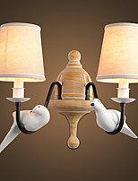AC 220-240 110-120 2*60 E14 E12 Rústico/Campestre Moderno/Contemporâneo Regional Pintura Característica Luz Ambiente Luz de parede