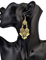Mulheres Brincos Compridos GemaBásico Original Geométrico Amizade Africa Borlas EUA Moda Formais Vintage Chrismas Estilo Boêmio Clássico
