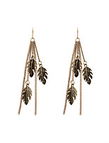 Fashion Women Metal Leaf Alloy Drop Earrings
